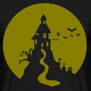 Halloween haunted castle Ghost haunted ghost - Men's T-Shirt