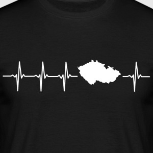 I like the Czech Republic (Czech Republic heartbeat) - Men's T-Shirt
