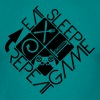 eat sleep game repeat controller logo - Men's T-Shirt