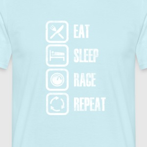 Eat Sleep Race Repeat - Maglietta da uomo
