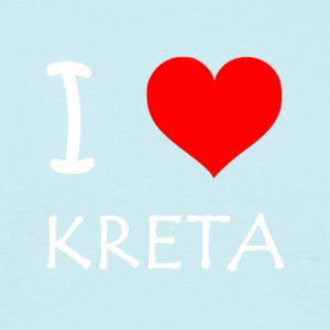 I Love Kreta - T-skjorte for menn