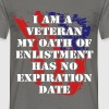 I am a veteran my oath of enlistment has no expira - Men's T-Shirt