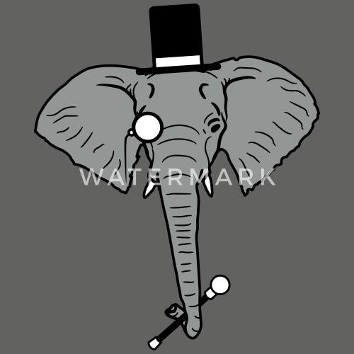 Sir Herr Gentlemen Zylinder Hut Monokel Brille Ele Manner T Shirt