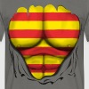 Cataluña  Flag Ripped Muscles six pack chest  - Men's T-Shirt
