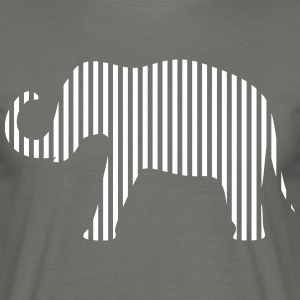 Elephant in strips - Men's T-Shirt