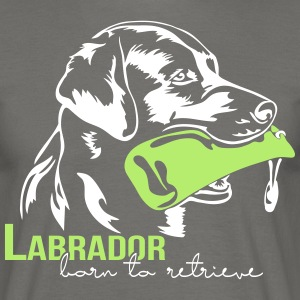 Labrador born to retrieve - Männer T-Shirt