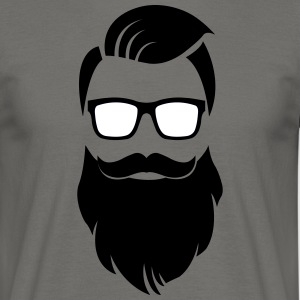 Hipster barbe - T-shirt Homme