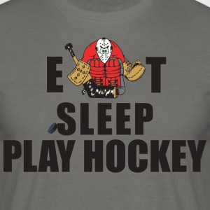 Hockey Eat Sleep Play Hockey - Men's T-Shirt