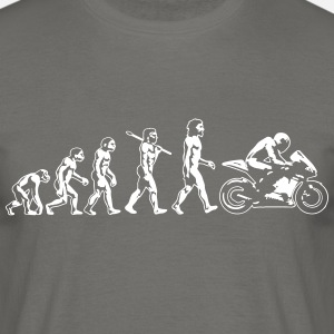 motorcycle evolution flat white print