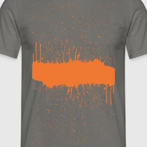 Orange brush Skizze - Männer T-Shirt