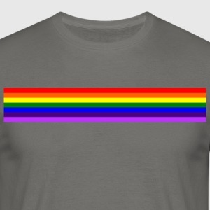 Band rainbow / regenboog band - Mannen T-shirt