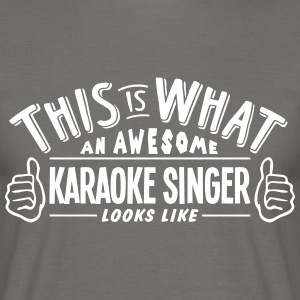 awesome karaoke singer looks like pro de