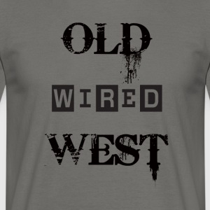 oude westen wired Black - Mannen T-shirt