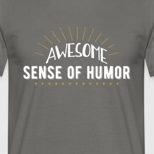 Awesome sans for humor - Herre-T-shirt