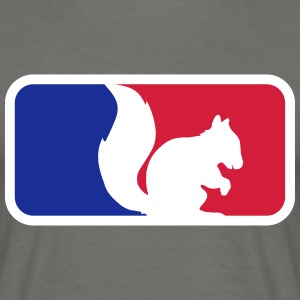 sport red blue logo black squirrel rodent