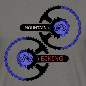 mountainbiking gears - MTB LOVE - Men's T-Shirt