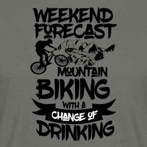 Mountainbike og drikkevarer forude - Weekend Forecast - Herre-T-shirt
