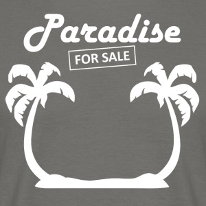 paradise4sale wite - T-skjorte for menn