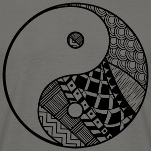 Dekorative Yin-Yang - T-skjorte for menn