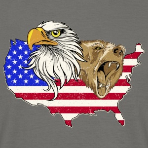 USA Adler eagle grizzly beer America America - Mannen T-shirt