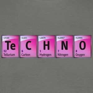 Techno Beat Dance Music Industrial Minimal House - Men's T-Shirt