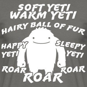 Soft yeti, yeti warm - Men's T-Shirt