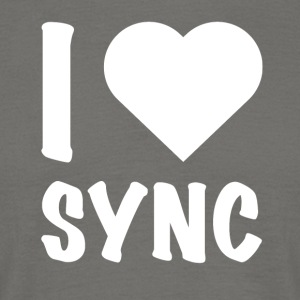 DJ Deejay Ching shirt T-shirt Love Sync - T-skjorte for menn