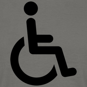 wheelchair - Men's T-Shirt