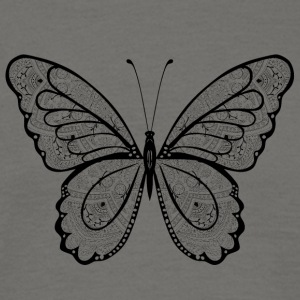 Butterfly in black hand drawn, - Men's T-Shirt