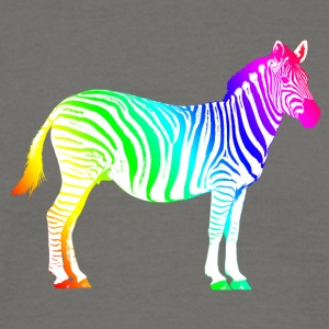 Zebra Africa Africa Rainbow Rainbow Safari - Men's T-Shirt