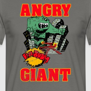 Vintage Angry Giant Cartoon Style - Männer T-Shirt