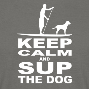 Keep calm and SUP the Dog - Männer T-Shirt