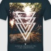 mystic forest triangles - Männer T-Shirt
