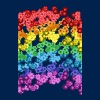 rainbow flowers - Men's T-Shirt