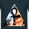 Hipster triangle with Ankh-mark - Herre-T-shirt