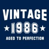 VINTAGE 1986 - Birthday - Aged To Perfection - Men's T-Shirt