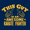 this guy is an awesome karate fighter - Men's T-Shirt