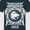 ...Power Of A Man Born In July, Leo Sign - Men's T-Shirt