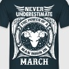 ...Power Of A Man Born In March, Aries Sign - Men's T-Shirt