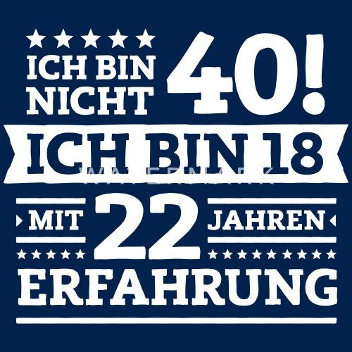 zum 40. geburtstag! männer t-shirt | spreadshirt