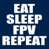 eat sleep fpv repeat - Men's T-Shirt