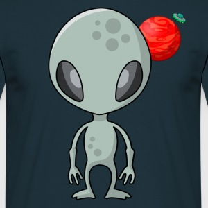 Friendly Alien - Männer T-Shirt