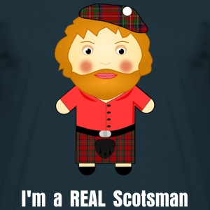 Cheeky Front/Back Print I'm a REAL Scotsman T-shirt
