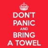 Don't panic and bring a towel (Keep Calm) - Mannen T-shirt