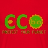 eco bio protect your planet - T-shirt herr