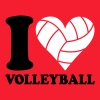 I love Volleyball - Camiseta hombre
