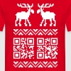Ugly Christmas Sweater QR Code Happy New Year! - Männer T-Shirt