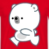 Cute Running Polar Bear Cub by Cheerful Madness!! - Men's T-Shirt