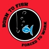 born to fish - T-shirt Homme