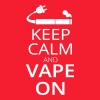 Keep Calm and Vape on - Männer T-Shirt